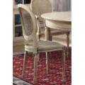 Luxusná rustikálna stolička Nuevas formas s vyrezávanými nožičkami 97cm