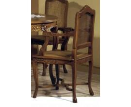 Rustikálna luxusná drevená stolička s lakťovými opierkami Nuevas formas 100cm