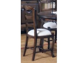 Rustikálna exkluzívna jedálenská stolička Nuevas formas z masívu 102cm