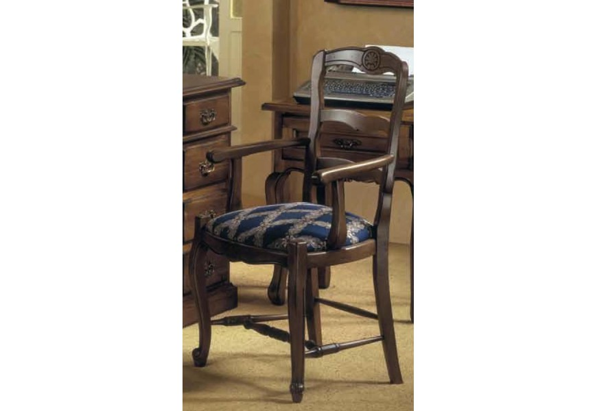 Rustikálna jedálenská stolička Nuevas formas s lakťovými opierkami 102cm