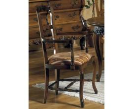 Rustikálna stolička Nuevas formas s opierkami a čalúnením 105cm