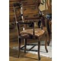 Luxusná rustikálna jedálenská stolička Nuevas formas s čalúnením