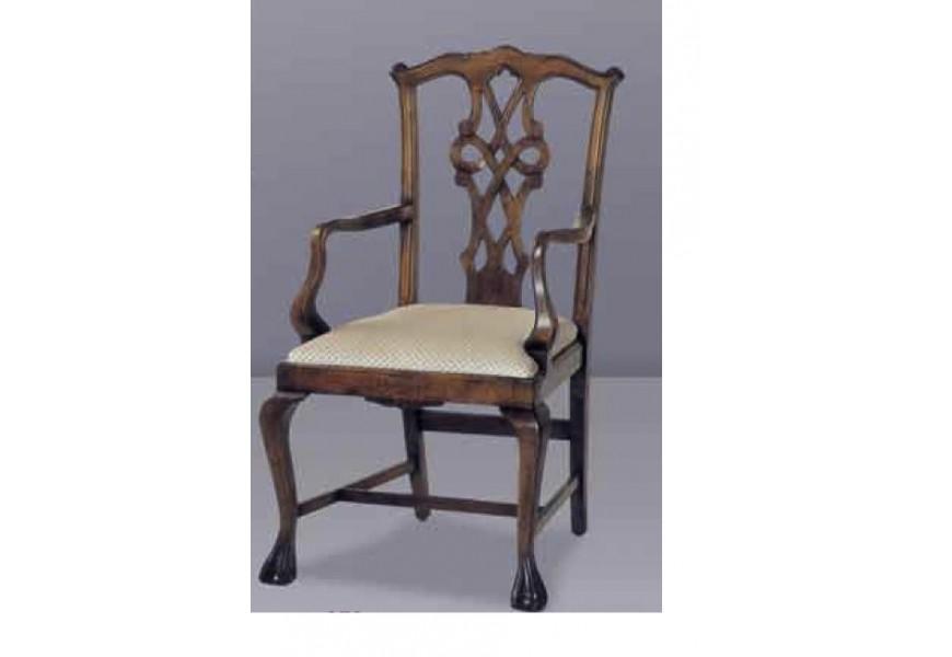 Luxusná vyrezávaná stolička Nuevas formas z masívneho dreva v rustikálnom štýle