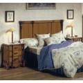 Rustikálne drevené zadné čelo postele Nuevas formas 160cm