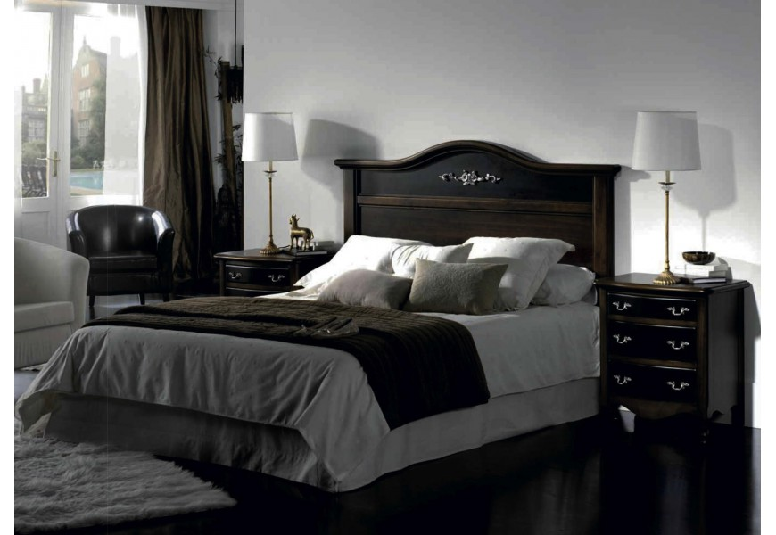 Štýlové rustikálne zadné čelo postele Nuevas formas s elegantnými líniami a vyrezávaním