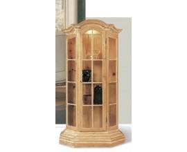 Rustikálna vitrína Nuevas formas s poličkami a sklenenými dvierkami 173cm