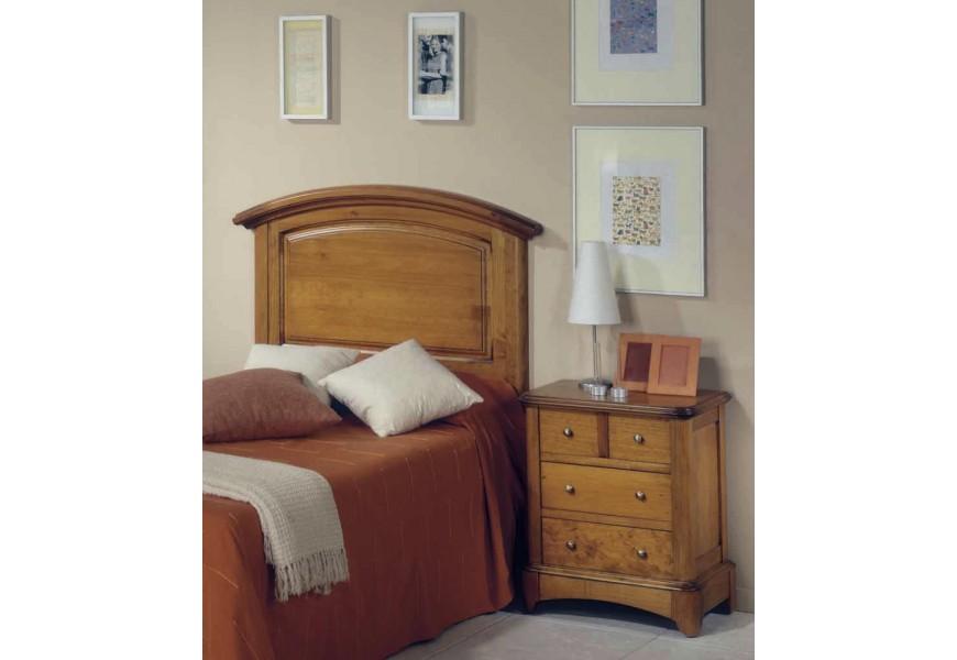 Luxusné drevené zadné čelo postele Arles v koloniálnom štýle