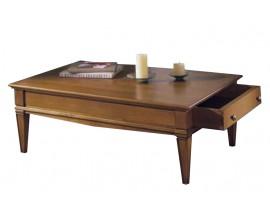 Rustikálny konferenčný stolík Frontes obdĺžnikového tvaru so zásuvkou 122cm