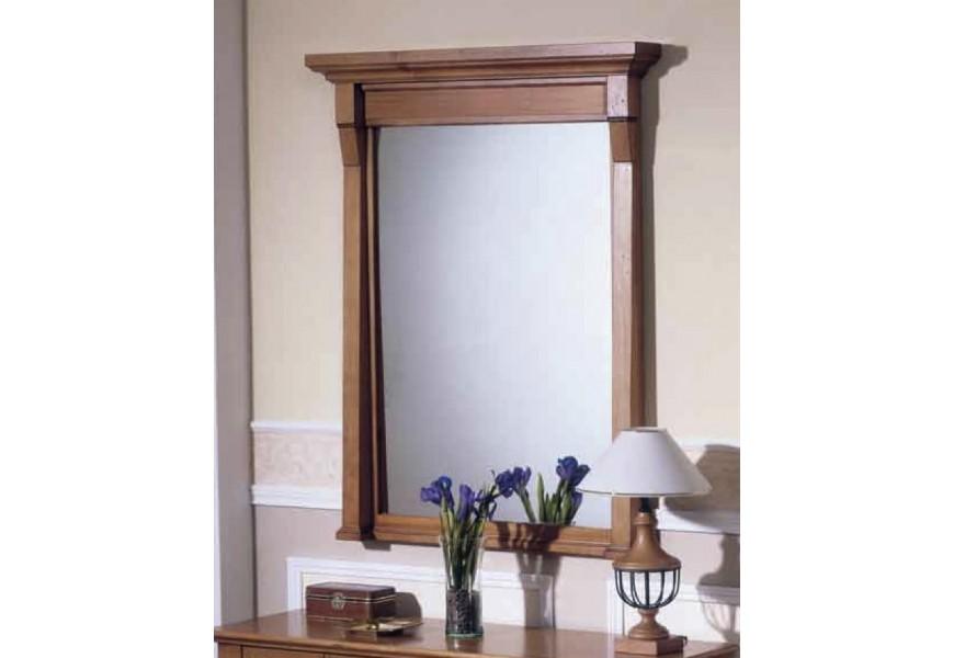 Luxusné nástenné zrkadlo Frontes z dreva v rustikálnom štýle