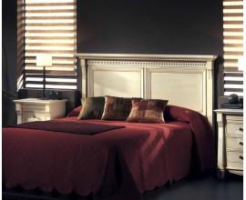 Koloniálne zadné čelo postele Frontes s rustikálnym vyrezávaním 156cm