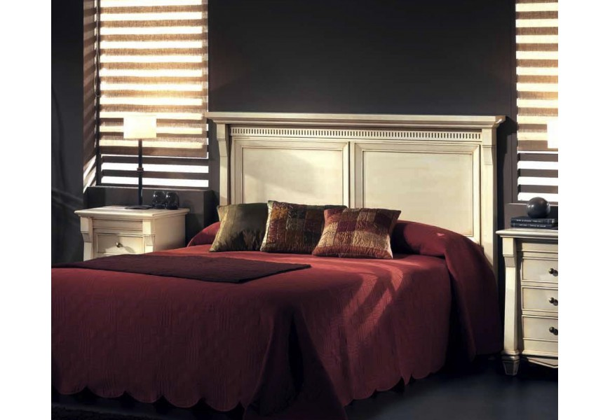 Luxusné drevené čelo postele Frontes v koloniálnom štýle