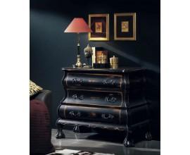Rustikálna luxusná komoda Luis Philippe s tromi zásuvkami a vyrezávanými prvkami 106cm