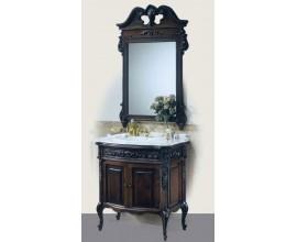 Rustikálna luxusná skrinka pod umývadlo Luis Philippe s dvierkami a vyrezávanými nožičkami 89cm