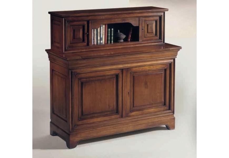 Luxusný koloniálny sekretár Luis Philippe z dreveného masívu s úložným priestorom