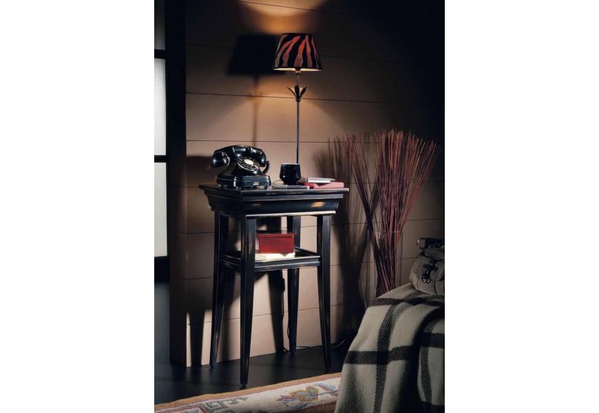 Luxusný telefónny stolík Luis Philippe z dreva v koloniálnom štýle s poličkou