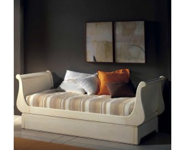 Rustikálna posteľ s úložným priestorom  Luis Philippe 90cm