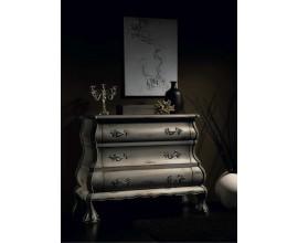 Rustikálna vyrezávaná luxusná komoda v španielskom štýle Luis Philippe s tromi zásuvkami 106cm
