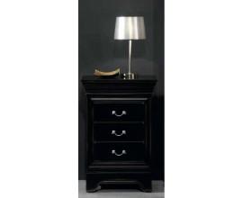 Luxusný čierny nočný stolík Luis Philippe