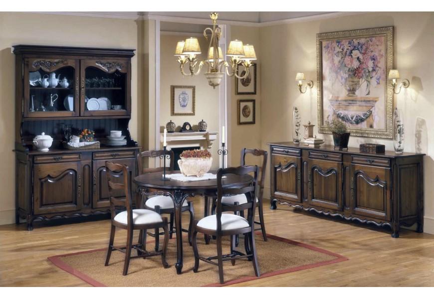 Luxusná jedálenská zostava Selleccion 5 v rustikálnom štýle s ornamentálnymi prvkami