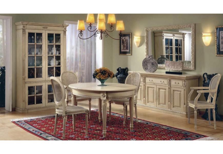 Luxusná jedálenská zostava Selleccion 7 s rustikálnymi ornamentálnymi prvkami