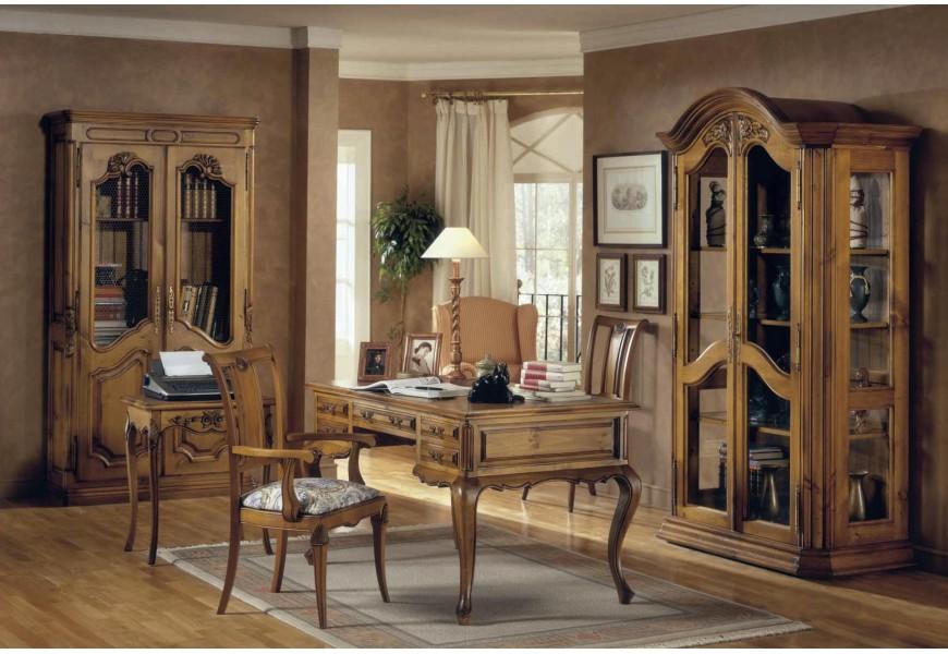 Luxusná rustikálna kancelárska zostava Selleccion 1 s ornamentálnym zdobením