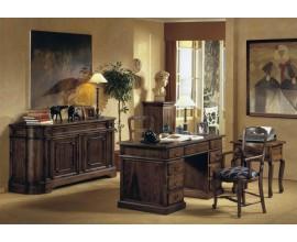 Rustikálna kancelárska zostava Selleccion 2 z dreva s ručným vyrezávaním