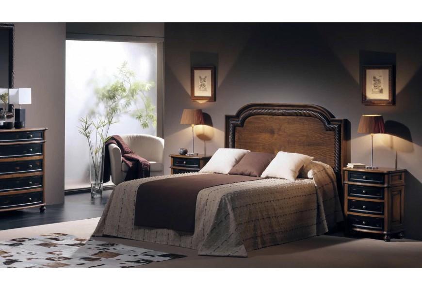 Luxusná elegantná spálňová zostava Selleccion 3 z dreva s vyrezávanými prvkami