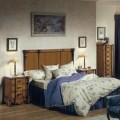 Luxusná drevená spálňová zostava Selleccion 6 v rustikálnom štýle s vyrezávanými prvkami
