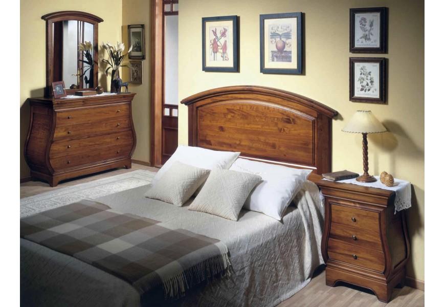 Koloniálna spálňová zostava Selleccion 13 z dreva s rustikálnymi prvkami