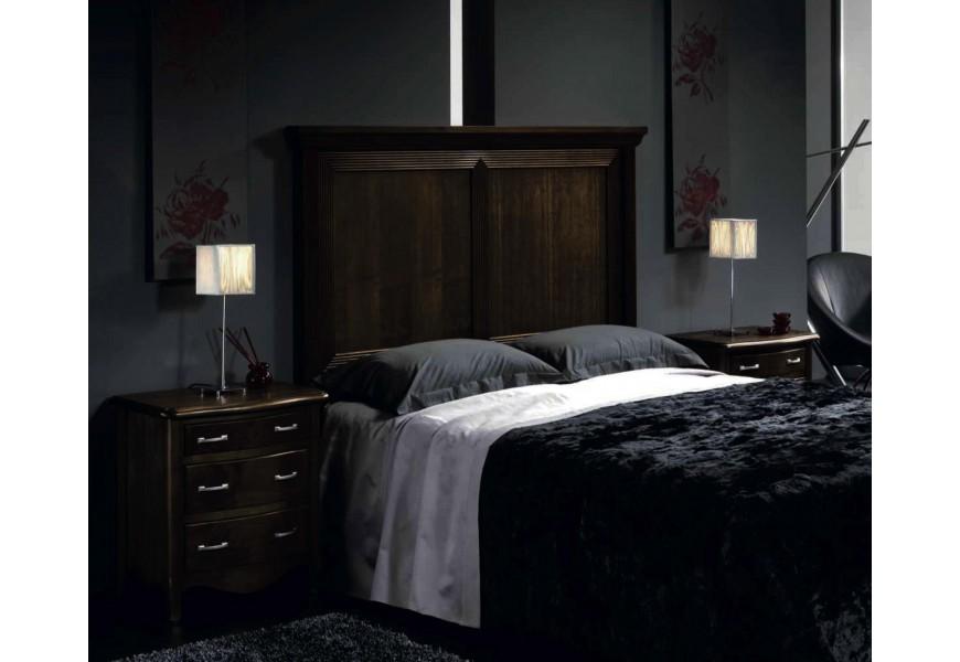 Luxusná drevená spálňová zostava Nuevas Formas 10 v rustikálnom štýle s vyrezávanými prvkami