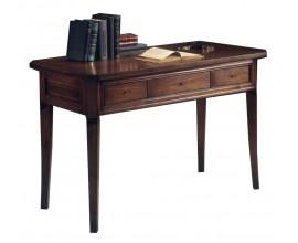Rustikálny luxusný písací stôl Luis Philippe s tromi zásuvkami 124cm
