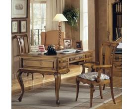 Rustikálny zdobený pracovný stôl Nuevas formas s vyrezávanými ornamentami 137cm