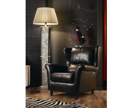 Luxusné komfortné kožené kreslo Argento