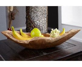 Dizajnová moderná misa na ovocie z masívneho dreva 60cm
