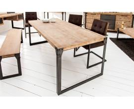 Štýlový industriálny jedálenský stôl z masívu Factory 160cm