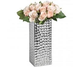 """Strieborná keramická váza """"dimple efect"""" hranatá"""