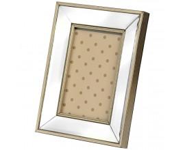 Dizajnový rám na fotografie so zrkadlovým okrajom