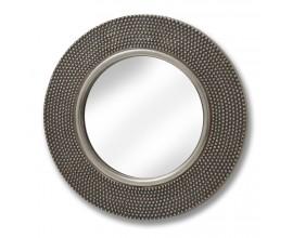 Veľké okrúhle zrkadlo s kovovým rámom 80cm