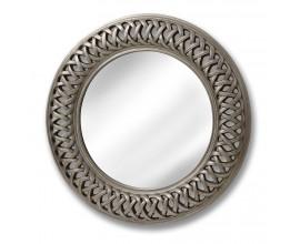 Štýlové retro zrkadlo Lattice strieborné
