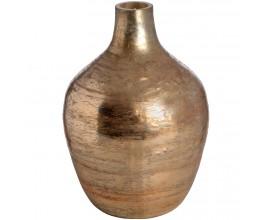 Ružovo zlatá metalická váza veľká