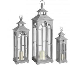Set troch štýlových lampášov v arch dizajne