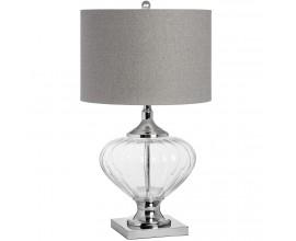 Dizajnová sklenená stolová lampa Verona