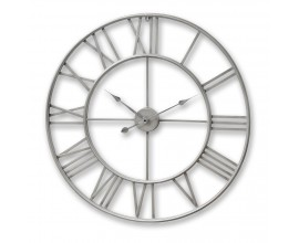 Strieborné kovové guľaté hodiny