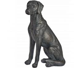 Vkusná soška sediaceho labradora Trudan čierna