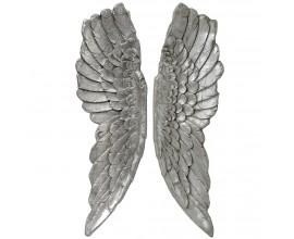 Luxusná dekorácia anjelské krídla 104cm (2ks) strieborné