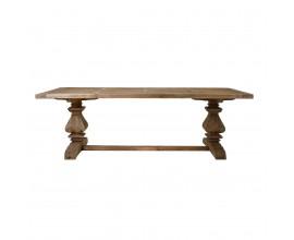 Vidiecky veľký jedálenský stôl ABO z masívneho dreva 250cm