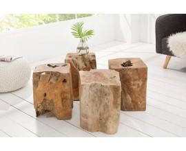 Dizajnový štýlový stolík 45cm drevo (1ks)