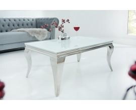 Luxusný konferenčný stolík Modern Barock 100cm biely