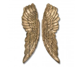 Luxusná dekorácia Anjelské krídla 104cm zlaté (2ks)