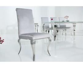Luxusná jedálenská stolička Modern Barock stieborná